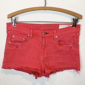 RAG & BONE | denim shorts coral red